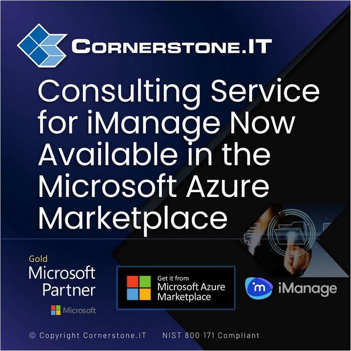Cornerstone.IT iManage Cloud Migration Assessment on Microsoft Azure Marketplace