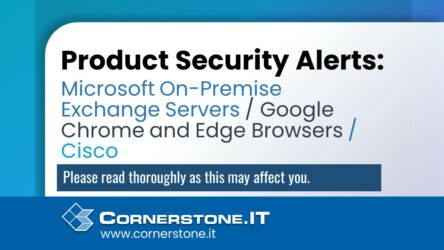 Product Security Alerts banner