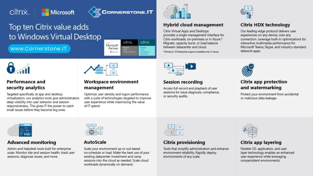 Top 10 Citrix Value Infographic