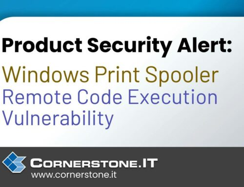Product Security Alert: Windows Print Spooler Remote Code Execution Vulnerability